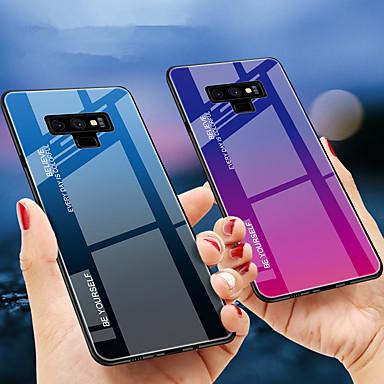 Недорогие Чехлы и кейсы для Galaxy Note-Кейс для Назначение SSamsung Galaxy Note 9 / Note 8 Защита от удара Кейс на заднюю панель Градиент цвета Твердый ТПУ / Закаленное стекло