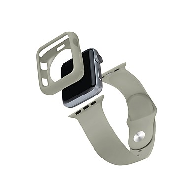voordelige Apple Watch Cases met band-Case met band Voor Apple Watch Series 4/3/2/1 TPU / Siliconen verenigbaarheid Apple