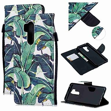 Недорогие Чехлы и кейсы для LG-Кейс для Назначение LG LG Q Stylus / LG StyLo 3 / LG Stylo 4 Кошелек / Бумажник для карт / Защита от удара Чехол дерево Кожа PU