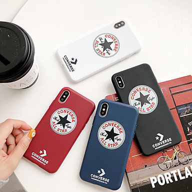 Недорогие Кейсы для iPhone 6 Plus-Кейс для Назначение Apple iPhone XS / iPhone XR / iPhone XS Max Защита от пыли / Рельефный Чехол Слова / выражения / Однотонный Мягкий ТПУ