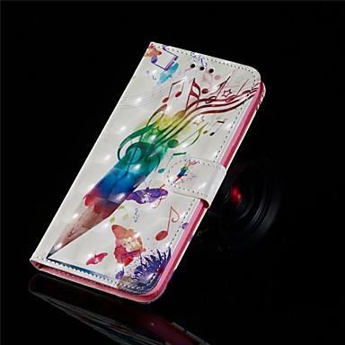 Недорогие Кейсы для iPhone-Кейс для Назначение Apple iPhone XS / iPhone XR / iPhone XS Max Кошелек / Бумажник для карт / Флип Чехол Плитка Твердый Кожа PU