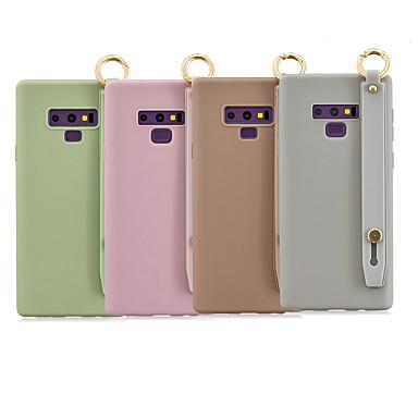 Недорогие Чехлы и кейсы для Galaxy Note-Кейс для Назначение SSamsung Galaxy Note 9 / Note 8 со стендом / Матовое Кейс на заднюю панель Однотонный ТПУ