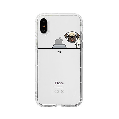 voordelige iPhone-hoesjes-hoesje Voor Apple iPhone XS / iPhone XR / iPhone XS Max Schokbestendig / Stofbestendig / Transparant Achterkant Hond / Transparant / Cartoon TPU
