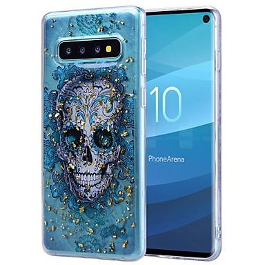 voordelige Galaxy S-serie hoesjes / covers-hoesje Voor Samsung Galaxy S9 / S9 Plus / Galaxy S10 Schokbestendig / Transparant / Patroon Achterkant Doodskoppen Zacht TPU