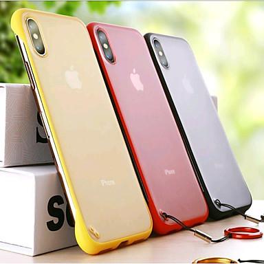 Недорогие Кейсы для iPhone 6 Plus-Кейс для Назначение Apple iPhone XS / iPhone XR / iPhone XS Max Ультратонкий / Матовое / Прозрачный Кейс на заднюю панель Однотонный / Прозрачный Твердый ПК