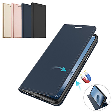 رخيصةأون Xiaomi أغطية / كفرات-كتاب الجلود المغناطيسي فليب حالة الهاتف ل xiaomi redmi note 7 redmi note 6 redmi note 5 pro card holder wallet cover for xiaomi redmi 6 pro redmi 6a redmi 6 redmi note 4 x