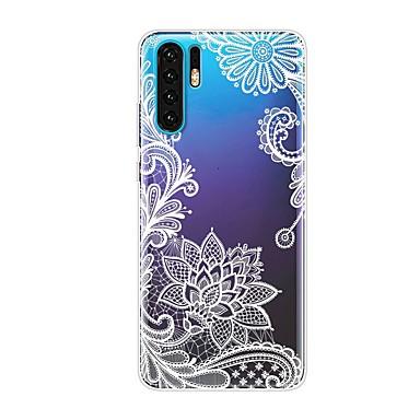 Θήκη Za Huawei Huawei P20 / Huawei P20 Pro / Huawei P20 lite Otporno na trešnju / Prozirno / Uzorak Stražnja maska Cvijet TPU / P10 Lite / P10