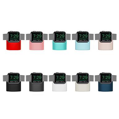Недорогие Крепления и держатели для Apple Watch-подставка из силикагеля для Apple Watch серии 4/3/2/1 с беспроводной зарядкой (без кабеля для передачи данных)