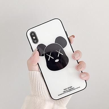 Недорогие Кейсы для iPhone-Кейс для Назначение Apple iPhone XS / iPhone XR / iPhone XS Max Защита от удара / Защита от пыли / Ультратонкий Кейс на заднюю панель Животное / Мультипликация Закаленное стекло
