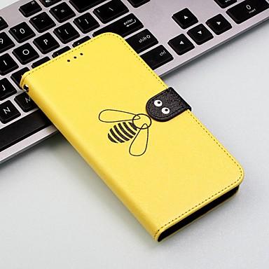 Недорогие Чехлы и кейсы для Motorola-Кейс для Назначение Motorola Мото G7 / Мото G7 Plus / Moto G7 Play Кошелек / Бумажник для карт / Защита от удара Чехол Плитка / Животное Твердый Кожа PU