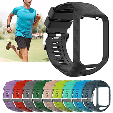 voordelige Smartwatch-accessoires-vervangende siliconen polsband polsband horlogeband voor tomtom runner 2 / runner 3 / spark 3 / golfer 2 armband riem accessoire