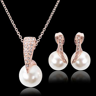 Žene Sitne naušnice Ogrlice s privjeskom Izrezati Stilski Klasik Pozlaćeni Naušnice Jewelry Zlato Za Dnevno Rad 1set