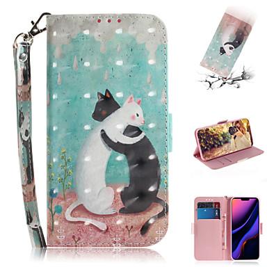 Недорогие Кейсы для iPhone X-Кейс для Назначение Apple iPhone XS / iPhone XR / iPhone XS Max Кошелек / Бумажник для карт / со стендом Чехол Животное / 3D в мультяшном стиле Кожа PU