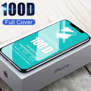 voordelige iPhone screenprotectors-100d edge volledig gehard glas voor iPhone 6 7 8 6s plus schermbeschermfolie op de voor iPhone X XR XS Max Glass Film