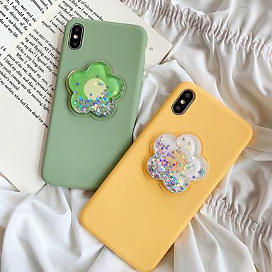 voordelige iPhone-hoesjes-hoesje Voor Apple iPhone XS / iPhone XR / iPhone XS Max Schokbestendig / Stromende vloeistof Achterkant Bloem silica Gel