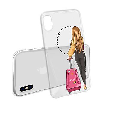Недорогие Кейсы для iPhone 6 Plus-чехол для iphone xs max x xr 8 plus задняя крышка мягкий сексуальный девушка прозрачный чехол для мобильного телефона водонепроницаемый и против царапин анти-царапина мягкий тм для iphone 7 плюс 7 6