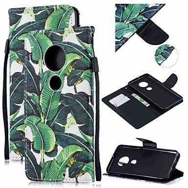 Недорогие Чехлы и кейсы для Motorola-Кейс для Назначение Motorola MOTO G6 / Moto G6 Plus / Мото G7 Кошелек / Бумажник для карт / Защита от удара Чехол дерево Кожа PU