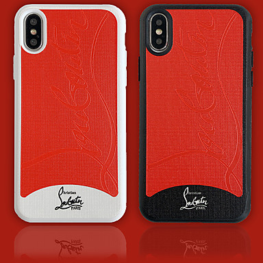 Недорогие Кейсы для iPhone 7-Кейс для Назначение Apple iPhone XS / iPhone XR / iPhone XS Max Защита от пыли / Рельефный Чехол Слова / выражения / Однотонный Мягкий ТПУ