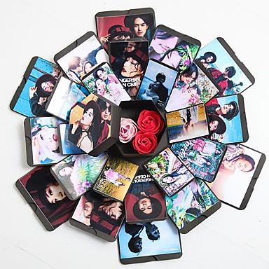 ييوو pho_084j انفجار مربع مسدس مفاجأة اعتراف ديي ألبوم هدية الإبداعية رومانسية (الشريط لون عشوائي) أسود