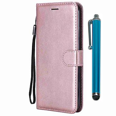 Недорогие Чехлы и кейсы для Nokia-чехол для nokia x7 / nokia 7.1 / кошелек nokia x71 / держатель для карт / с подставкой для всего тела чехлы из натуральной кожи пу / тпу для nokia 9 pureview / nokia 4.2 / nokia 3.2 / nokia 1 plus