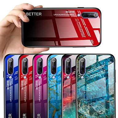 رخيصةأون Xiaomi أغطية / كفرات-غطاء من أجل Xiaomi Xiaomi Redmi Note 7 / Xiaomi Redmi Note 7 Pro / Xiaomi Mi 9 نموذج غطاء خلفي حجر كريم / لون متغاير قاسي زجاج مقوى