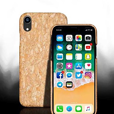 رخيصةأون أغطية أيفون-غطاء من أجل Apple iPhone XS / iPhone XR / iPhone XS Max ضد الصدمات غطاء خلفي خشب قاسي خشبي
