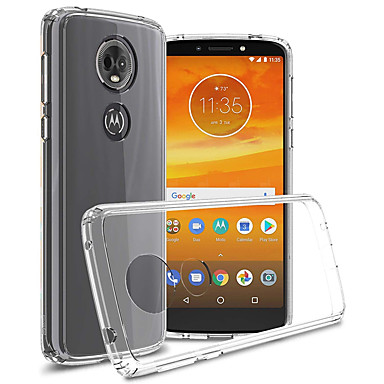 Недорогие Чехлы и кейсы для Motorola-Кейс для Назначение Motorola Moto G5s Plus / Moto G5s / Moto E5 Plus Защита от удара / Защита от пыли / Прозрачный Кейс на заднюю панель Прозрачный Мягкий ТПУ