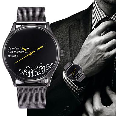 Недорогие Часы на металлическом ремешке-Муж. Нержавеющая сталь Кварцевый Современный Стильные На каждый день Секундомер Аналоговый Белый Черный / Два года / Два года