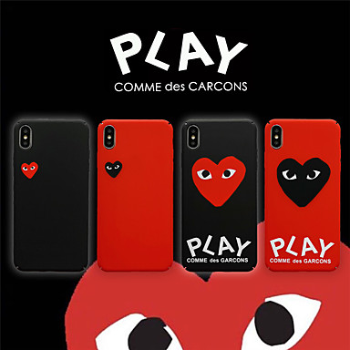 cheap iPhone 5 Cases-Case For Apple iPhone XS / iPhone XR / iPhone XS Max Frosted / Game case Back Cover Heart PC