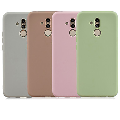 رخيصةأون Huawei أغطية / كفرات-غطاء من أجل Huawei Mate 10 lite / Huawei Mate 20 lite مثلج غطاء خلفي لون سادة TPU