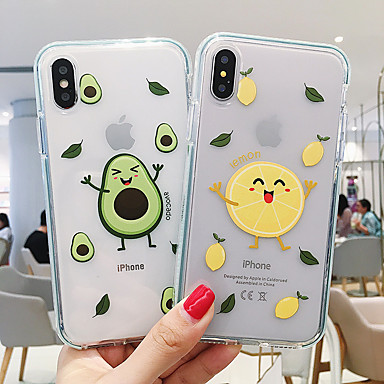 voordelige iPhone 8 hoesjes-hoesje Voor Apple iPhone 11 / iPhone 11 Pro / iPhone 11 Pro Max Transparant / Patroon Buideltas Cartoon Zacht Kunststoffen