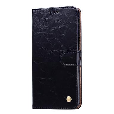 Недорогие Чехлы и кейсы для Galaxy J-Кейс для Назначение SSamsung Galaxy Galaxy J6 Plus (2018) Бумажник для карт / Флип Чехол Однотонный Твердый Кожа PU
