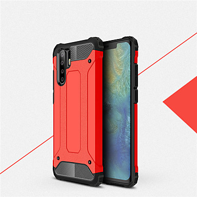 رخيصةأون Huawei أغطية / كفرات-حالة صدمات غطاء الهاتف لهواوي p30 الموالية p30 لايت p30 المطاط درع الهجين pc الغلاف الصلب لهواوي p20 الموالية p20 لايت p20 p10 زائد p10 لايت p10 سيليكون tpu حالة