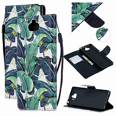 غطاء من أجل Sony سوني اريكسون 10 / Sony Xperia XZ3 / Xperia XZ2 Compact محفظة / حامل البطاقات / ضد الصدمات غطاء كامل للجسم شجرة جلد PU