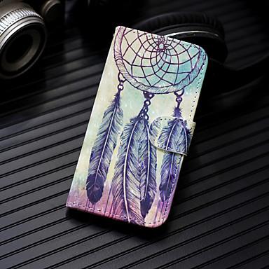 voordelige Galaxy A-serie hoesjes / covers-case voor samsung galaxy a30 (2019) galaxy a50 (2019) telefoon case pu lederen materiaal 3d geschilderd patroon telefoon case