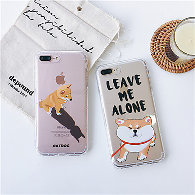 voordelige iPhone 7 hoesjes-hoesje Voor Apple iPhone XS / iPhone XR / iPhone XS Max Schokbestendig / Stofbestendig / Transparant Achterkant Hond / Transparant / Cartoon TPU