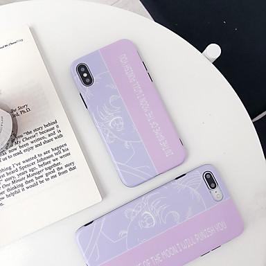 Недорогие Кейсы для iPhone X-Кейс для Назначение Apple iPhone XS / iPhone XR / iPhone XS Max Защита от удара / IMD / С узором Кейс на заднюю панель Мультипликация ТПУ