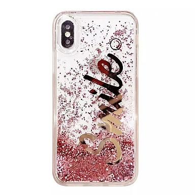 voordelige iPhone 6 Plus hoesjes-hoesje Voor Apple iPhone XS / iPhone XR / iPhone XS Max Schokbestendig / Stofbestendig / Waterbestendig Achterkant Landschap / dier / Glitterglans Zacht TPU / PC / Stromende vloeistof