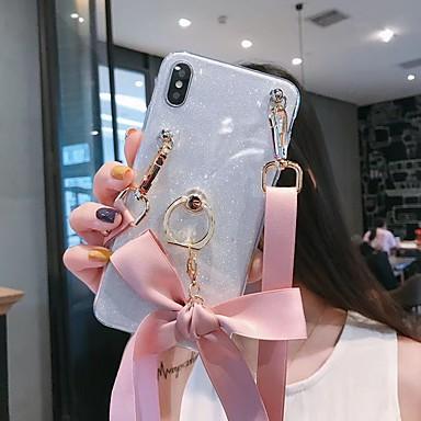voordelige Galaxy A-serie hoesjes / covers-hoesje Voor Samsung Galaxy A5(2018) / A6 (2018) / Galaxy A7(2018) Glitterglans Achterkant Glitterglans TPU
