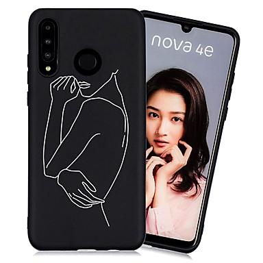 رخيصةأون Huawei أغطية / كفرات-غطاء من أجل Huawei Huawei P20 / Huawei P20 Pro / Huawei P20 lite ضد الصدمات / مثلج / نموذج غطاء خلفي قرميدة TPU