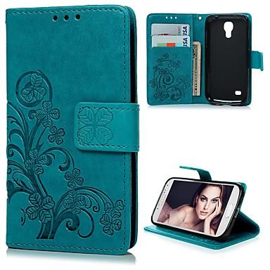 Недорогие Чехлы и кейсы для Galaxy S-Кейс для Назначение SSamsung Galaxy S4 Mini Кошелек / Бумажник для карт / со стендом Чехол Цветы Твердый Кожа PU