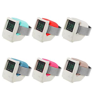 Недорогие Крепления и держатели для Apple Watch-Ретро стойка силикагель для Apple Watch серии 4/3/2/1 беспроводная зарядка без кабеля для передачи данных