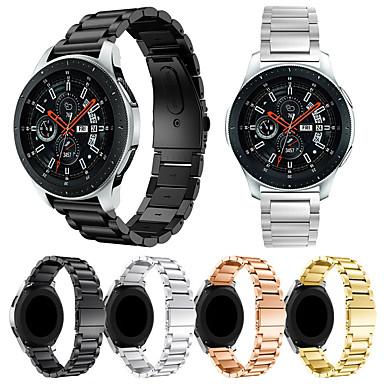 voordelige Horlogebandjes voor Samsung-Horlogeband voor Gear S3 Frontier / Gear S3 Classic / Samsung Galaxy Watch 46 Samsung Galaxy Sportband Roestvrij staal Polsband