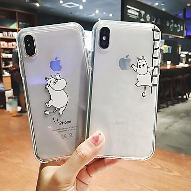 Недорогие Кейсы для iPhone 6-Кейс для Назначение Apple iPhone 11 / iPhone 11 Pro / iPhone 11 Pro Max Прозрачный / С узором Мешочек Мультипликация Мягкий Пластик