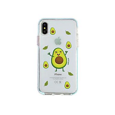 Недорогие Кейсы для iPhone-Кейс для Назначение Apple iPhone XR / iPhone XS Max / iPhone X Защита от пыли / С узором Кейс на заднюю панель Продукты питания ТПУ