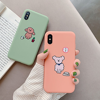 voordelige iPhone-hoesjes-hoesje Voor Apple iPhone XS / iPhone XR / iPhone XS Max Stofbestendig / Patroon Achterkant Hond / Cartoon TPU