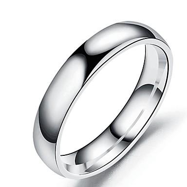 ieftine Inele-Band Ring Roz auriu Negru Auriu Teak Oțel titan De Bază Modă 1 buc 5 6 7 8 9 / Pentru femei / Bărbați / Inel / Tail Ring
