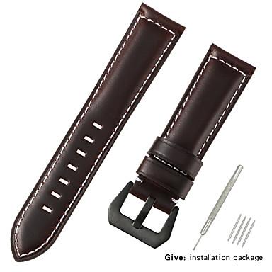 رخيصةأون قيود ساعات-جلد أصلي / شعر العجل حزام حزام إلى أسود / أزرق / بني 20cm / 7.9 Inches 2.2cm / 0.9 Inches / 2.4cm / 0.94 Inches / 2.6cm / 1.02 Inches
