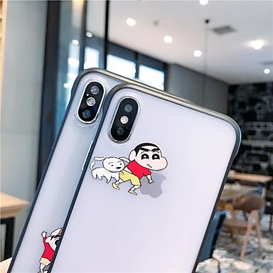 voordelige iPhone-hoesjes-hoesje Voor Apple iPhone XS / iPhone XR / iPhone XS Max Schokbestendig / Stofbestendig / Doorzichtig Achterkant Cartoon TPU