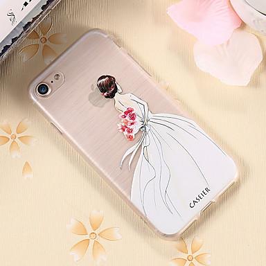 voordelige iPhone-hoesjes-hoesje voor Apple iPhone XS Max / iPhone X / XS stofdicht / ultradunne / doorschijnende achterkant sexy dame zachte TPU / waterdichte / anti-fall shell telefoonhoesje voor iPhone 5 / 5s / SE / 6 / 6S